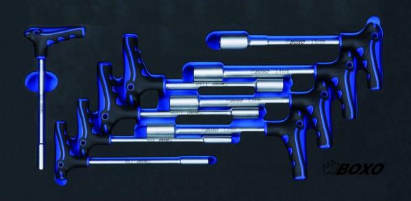 BX082 - Boxo Werkzeugeinlage T-Griff Stecknuss-Satz 9-tlg.