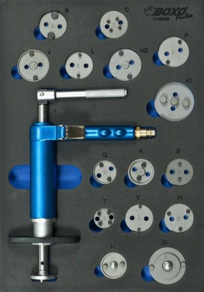 VVB006 - Boxo Werkzeugeinlage Pneumatischer Bremskolbenrücksteller-Satz, 16 tlg.