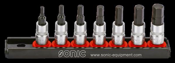 Sonic 1/4`` Inbus-Bit-Set (SAE ) 7-tlg.