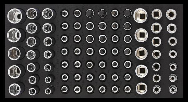 1/3 SFS 3/8`` Bitset, 80-tlg.