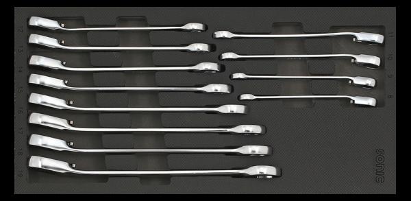1/3 SFS Ring-Ratschen-Set, 12-kant, 12-tlg.