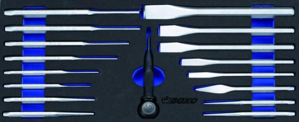 BX014 - Boxo Werkzeugeinlage Splinttreiber und Meißel-Satz