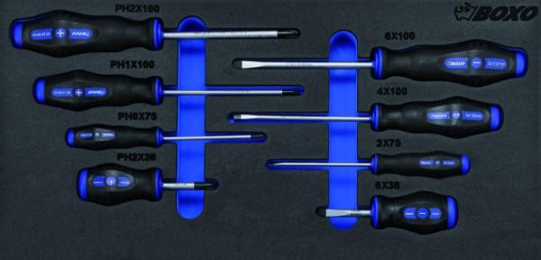 BX004A - Boxo Werkzeugeinlage Schraubendreher-Satz
