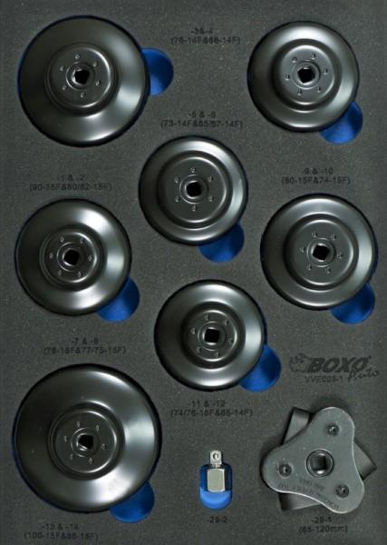 VVE003 - Boxo Werkzeugeinlage Ölfilterschlüssel-Satz 30-tlg.