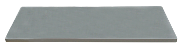 Edelstahl-Arbeitsplatte L845 x B500 x H38