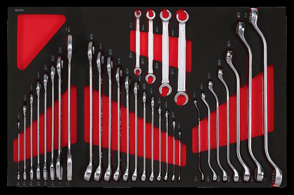 Schlüssel-Set, zollig, 31-tlg., Zoll