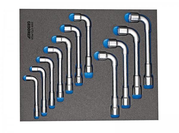 Doppelsteckschlüssel-Satz in Check-Tool-Modul, 11-tlg