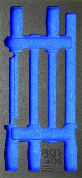 BGS - Werkstattwageneinlage (408x189x32 mm), leer, für Feilen-Satz (Art. 4030-1)