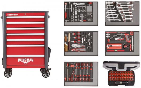 Werkstattwagen WINGMAN mit Werkzeugsatz 2250.5801, 222-tlg