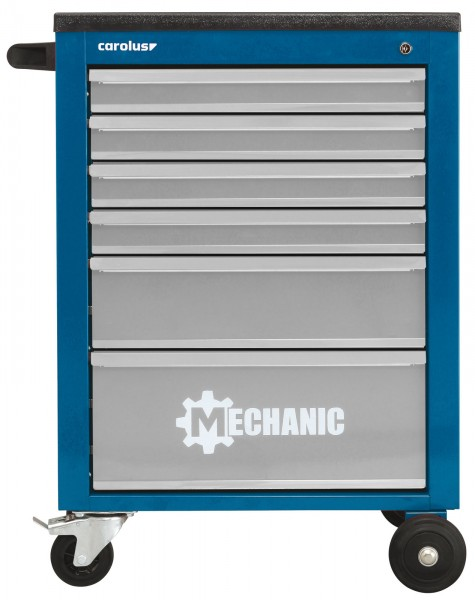 Werkstattwagen MECHANIC, 6 Schubladen, blau/lichtgrau