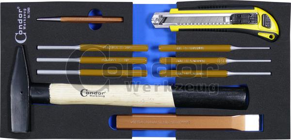 Condor 7290 Schaumeinlage Schlagwerkzeug 1/3, 10-tlg.