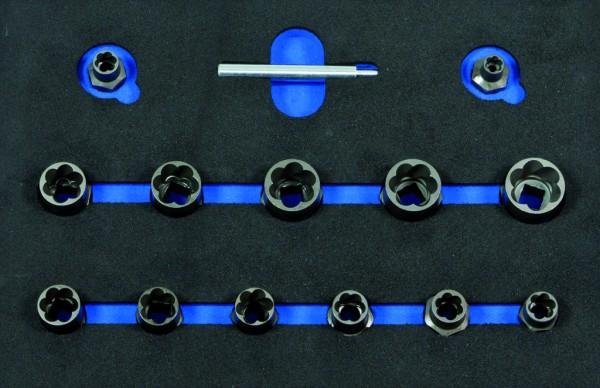 VVG002 - Boxo Werkzeugeinlage Schraubenausdreher-Satz 14-tlg.