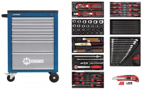 Werkstattwagen MECHANIC blau mit Werkzeugsatz 2200.070, 80-tlg