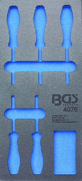 BGS - Werkstattwageneinlage (408x189x32 mm), leer, für T-Profil-Schraubendreher, T6-T10, 5-tlg. (Art