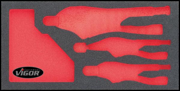 1/3 Weichschaumeinlage Grip-Zangen-Satz, leer V1807