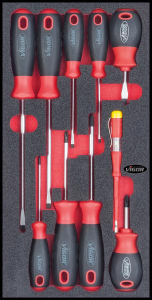1/3 Weichschaumeinlage Schraubendreher-Satz V1664 ∙ Vierkant hohl 12,5 mm (1/2 Zoll)