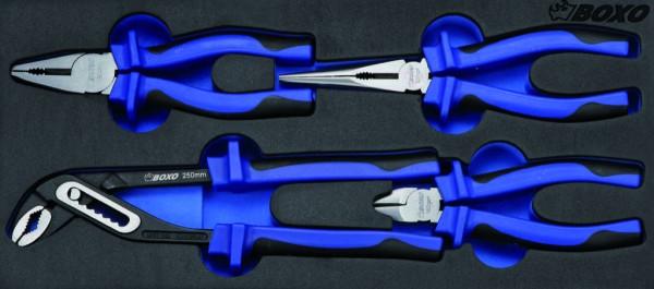 BX009 - Boxo Werkzeugeinlage Zangen-Satz 4-tlg.