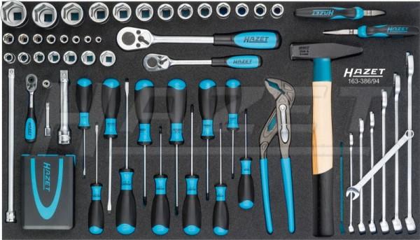 HAZET Werkzeug-Satz-Grundsortiment, klein 163-386/94