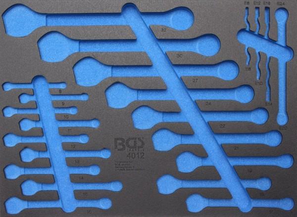 BGS - Werkstattwageneinlage (408x467x32 mm), leer, für Maulringschlüssel und E-Profil-Schlüssel (Art