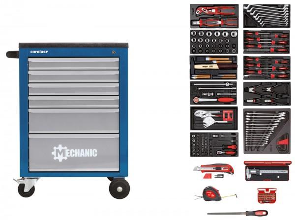 Werkstattwagen MECHANIC blau mit Werkzeugsatz 2200.090, 164-tlg