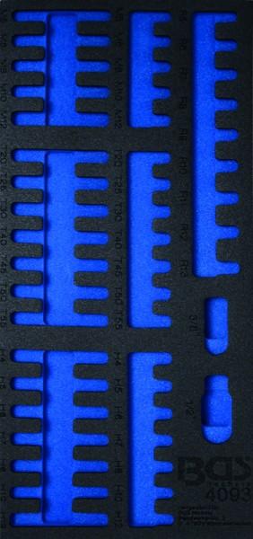BGS - Werkstattwageneinlage (408x189x32 mm), leer, für Kombi-Bit-Satz, 49-tlg. (Art. 4093-1)
