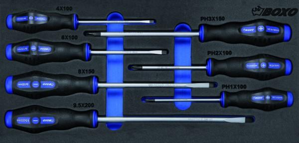 BX005A - Boxo Werkzeugeinlage Schraubendreher-Satz 7-tlg.