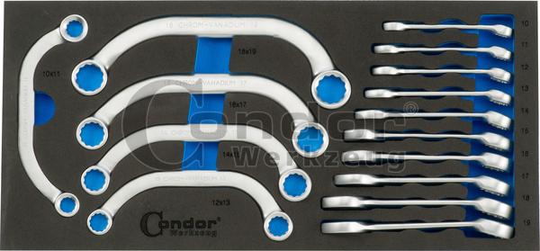 Condor 7315 Schaumeinlage Gabel-Ringschl. Nr. 4410 + C-Form 40/5 1/3, 15-tlg.