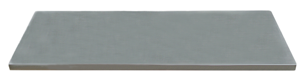 Edelstahl-Arbeitsplatte L1690 x B500 x H38