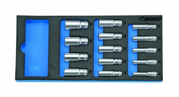 BX016 - Boxo Werkzeugeinlage Steckschlüssel-Satz lang
