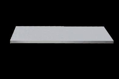 Edelstahl-Arbeitsplatte extra tief L1348 x B570 x H38