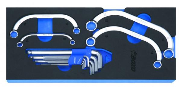 BX077 - Boxo Werkzeugeinlage Block- und Starterschlüssel & Winkelsschlüssel-Satz 13-tlg.