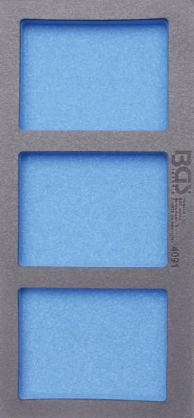 BGS - Werkstattwageneinlage (408x189x32 mm): Leereinlage mit 3 Ablagefächern (Art. 4091)