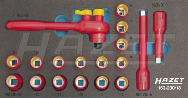 HAZET Steckschlüssel-Satz, TORX® Doppel-Ringschlüssel, Steckschlüssel usw. 163-53/75