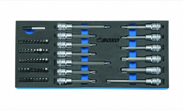 """BX015A - Boxo Werkzeugeinlage 1/2"""" Steckschlüssel-Satz"""