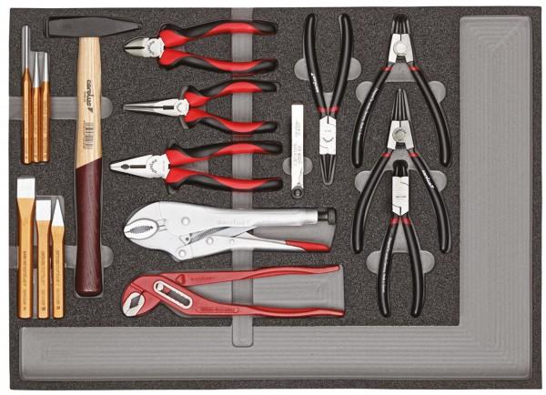 Werkzeugsatz Zangen, Hämmer, Meißel