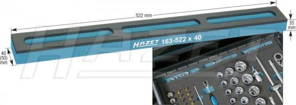 HAZET Weichschaum-Einlage mit Kleinteilefächern 163-522X50