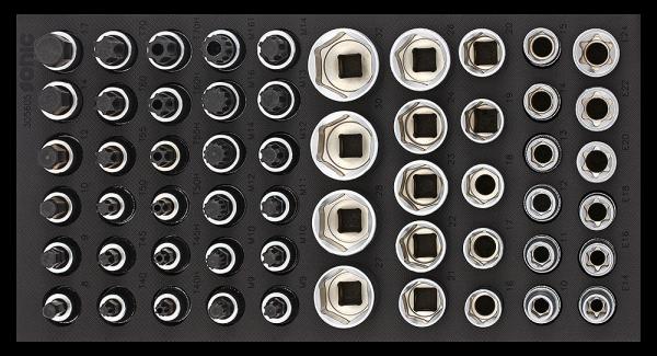 1/3 SFS 1/2`` Nuss-Set, 56-tlg.