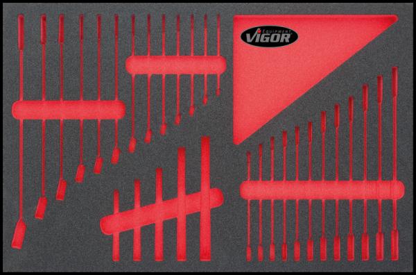 3/3 Weichschaumeinlage Flachschlüssel-Satz, leer V1743