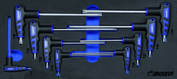 BX021 - Boxo Werkzeugeinlage 2-seitiger TX-Stiftschlüssel mit T-Griff