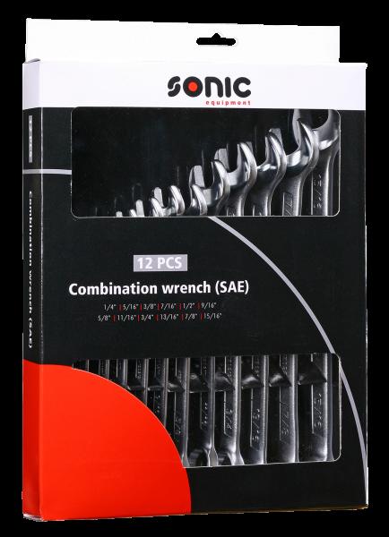 Sonic Zoll Gabel-Ring-Schlüssel, 12-tlg.