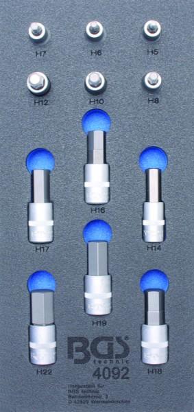 BGS - Werkstattwageneinlage Bit-Einsatz-Set Innen-6-Kant, 12,5 (1/2), 12-tlg. (Art. 4092)