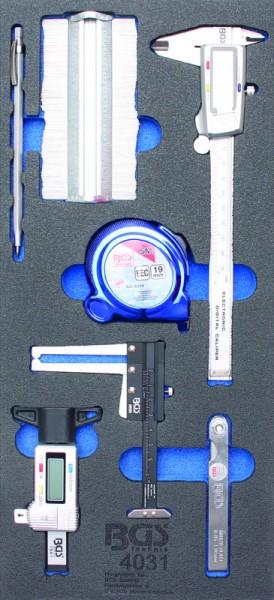 BGS - Werkstattwageneinlage Messwerkzeug-Satz, 7-tlg. (Art. 4031)