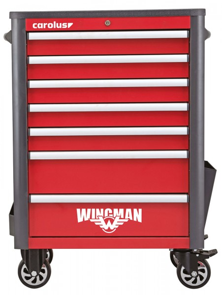 Werkstattwagen WINGMAN, 7 Schubladen, rot/anthrazit