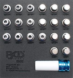 BGS - Werkstattwageneinlage Felgenschloss-Werkzeugsatz für BMW, 21-tlg. (Art. 8932)