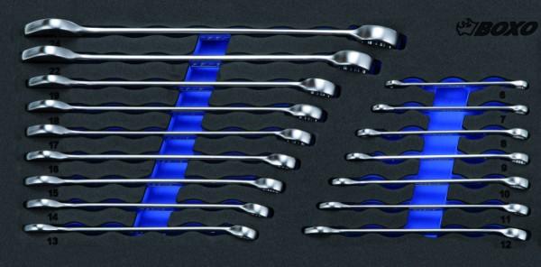 BX006 - Boxo Werkzeugeinlage Ring-Maulschlüssel-Satz