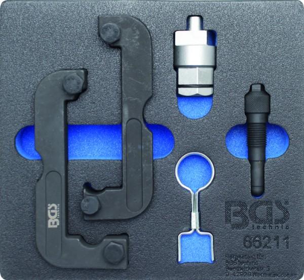 BGS - Werkstattwageneinlage Motor-Einstellwerkzeug-Satz für Audi 2,0 / 2,8 / 3,0 TFSI (Art. 66211)