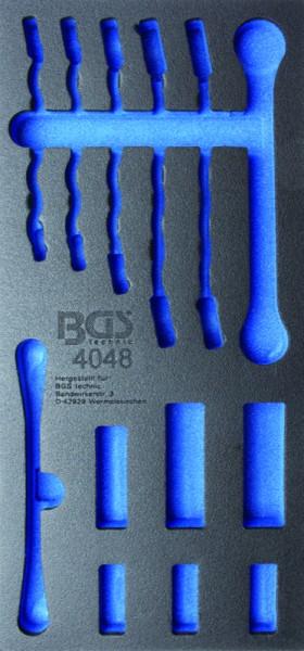 BGS - Werkstattwageneinlage (408x189x32 mm), leer, für Offene Ringschlüssel und 10 (3/8) Spezial-Ein