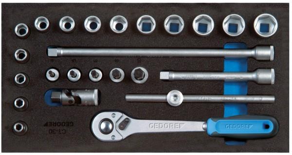 """Steckschlüssel-Sortiment 3/8"""" in Check-Tool-Modul"""