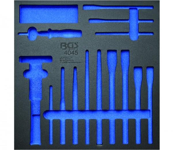 BGS - Werkstattwageneinlage (408x378x32 mm), leer, für Splintentreiber, Meißel und Körner, 15-tlg. (