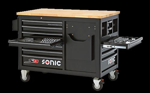 Werkstattwagen S13 gefüllt, 540-tlg. schwarz